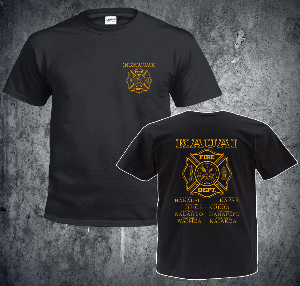 2019 Hot Sale 100 Cotton Fashion Inspired Kauai Fire Department T