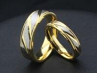 Ücretsiz yazı için Titanyum alaşım takı bantları yüzükler düğün nişan yüzükleri kadın erkek lover Sevgililer Hediye olarak
