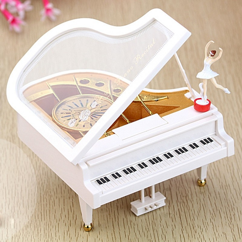 Music Boxes Grand Piano Rotary Ballerina Girl On The Piano Castle in the Sky Music box Children Birthday Gifts Figurines