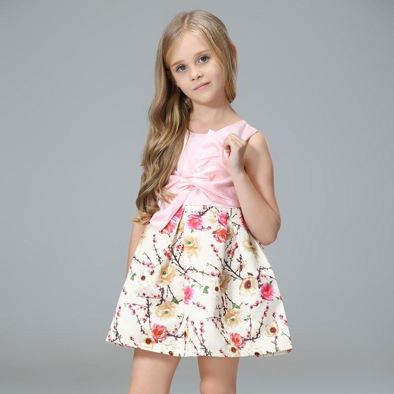 Соединенные Штаты Лидер продаж с большим бантом детская одежда с рисунком; платье принцессы Одежда для детей платье характеристики