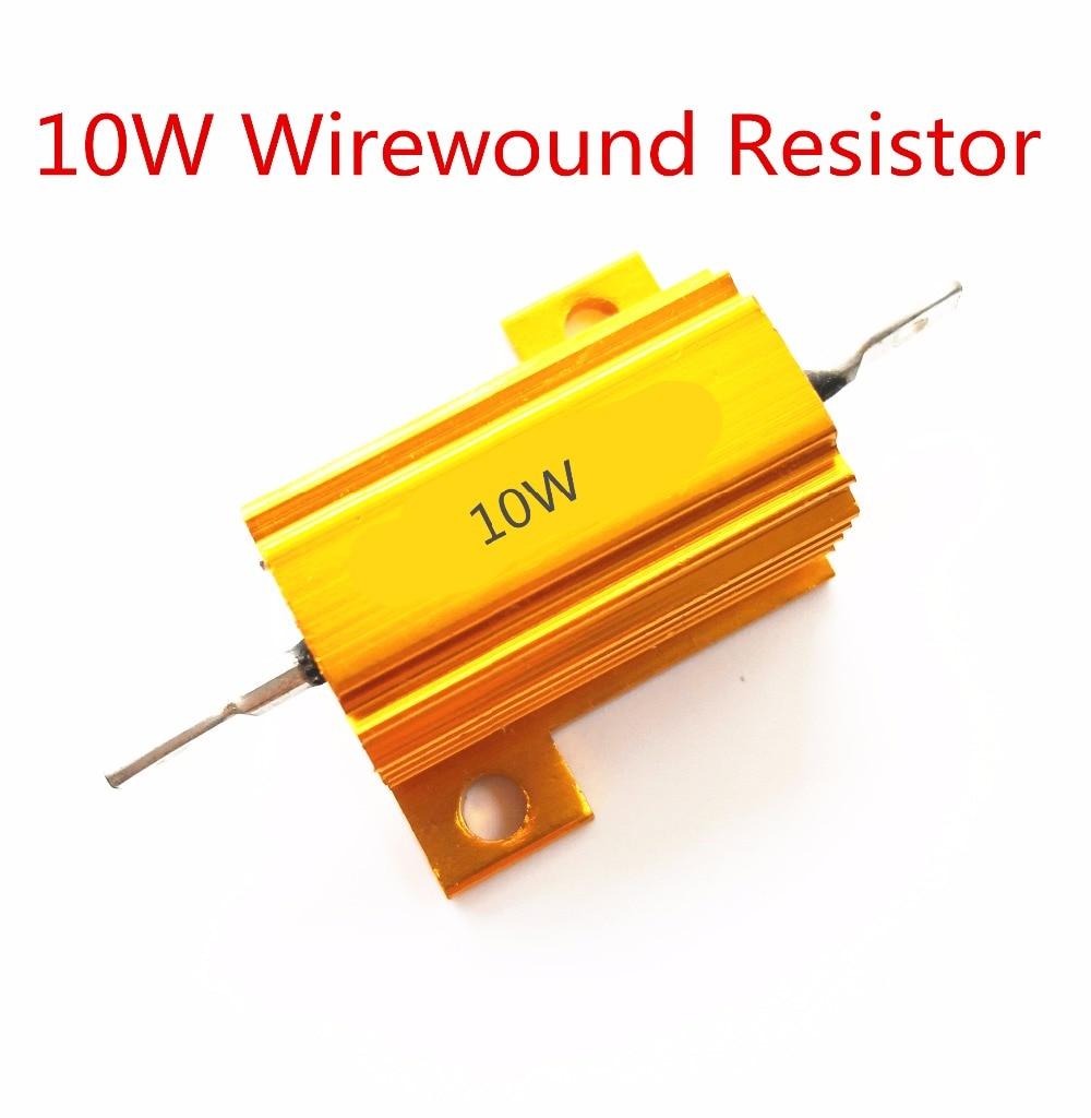 1Pcs Full Value 10W  0.01 -100K Ohm 0.47R 0.5R 0.56R 0.68R 1R 1.5R 2R Wirewound Aluminum Power Metal Shell Case Resista 5%