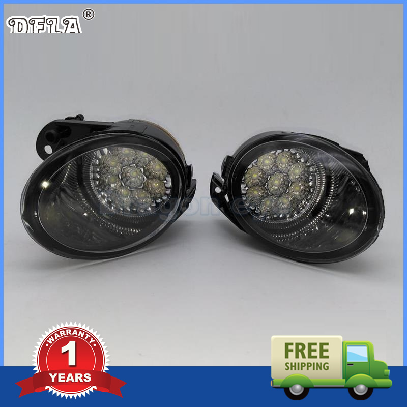 For VW Passat B6 2006 2007 2008 2009 2010 2011 New Front Left And Right Side High Quality 9 LED Fog Lamp Fog Light dfla car light for vw passat b6 car styling 2006 2007 2008 2009 2010 2011 new front halogen fog light fog lamp