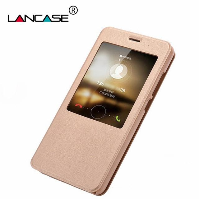 info for 4d34b 71fb9 US $3.59 10% OFF|LANCASE Smart Case For Xiaomi Mi A1 Case Leather Window  View Flip Case For Redmi Note 4 4X Cover Stand For Mi5X Mi Max 2 Coque-in  ...