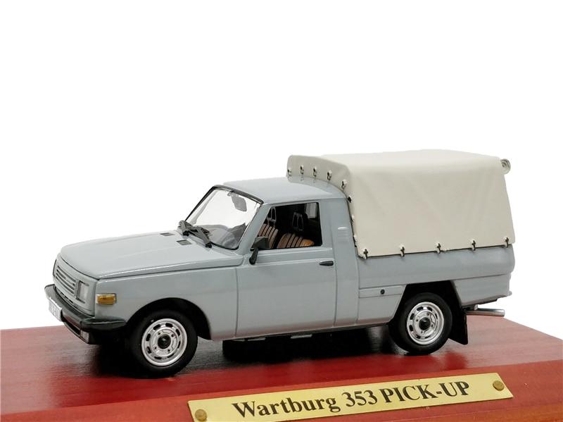 1:43 Atlas Verlag IST Wartburg 353 PICK UP Gray Diecast Model Car