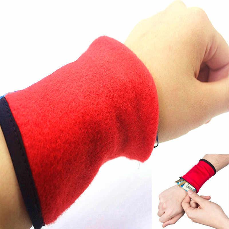 Esporte Respirável Coin Bolsas Carteira Bolsa de Pulso Saco Faixa de Braço Para MP3 Cartão Chave Saco De Armazenamento Caso Sweatband pulseira Mulheres /homens saco