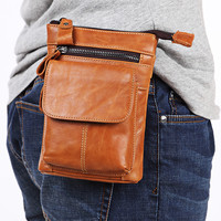 Genuine Leather Cell Mobile Phone Case For Blackview BV9000 Pro DOOGEE S60 Cross Body Belt Bag