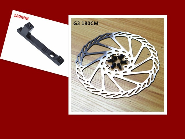 1e979e06b3d Wholesale high quality stainless steel bicycle brake disc G3 / HS1 180MM  disc and 180MM adapter 10 combination with screws