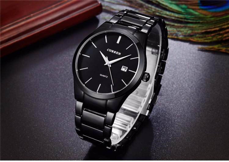 Curren 2016 Najlepsze Marki Biznesmenów Mężczyzna Luksusowy Zegarek Na Co Dzień Pełne stali Kalendarz zegarki Na Rękę zegarki kwarcowe relógio masculino 12