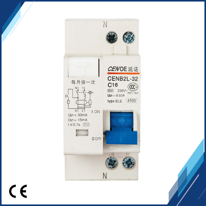 HTB1 qAFETlYBeNjSszcq6zwhFXai - 2018 new arrival short circuit and Leakage protection residual current Circuit breaker DPNL 1P+N16A 20A 25A 32A 230V~ 50HZ/60H