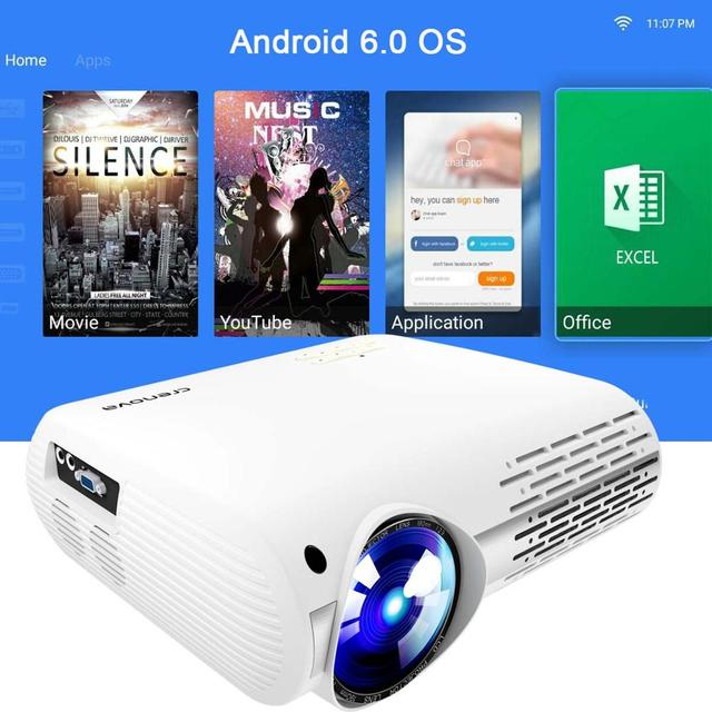 CRENOVA 2018 Newest Video Projector For Full HD 4K*2K Home Theater