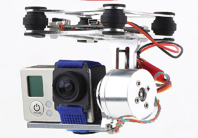 Free Shipping Newest DJI Phantom Brushless Gimbal Camera Mount W/ Motor & Controller For Gopro3 FPV Aerial Photography