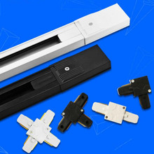 Free Shipping led track lighting kits accessories rail connectors conector I&Lfor tracking Fixture system