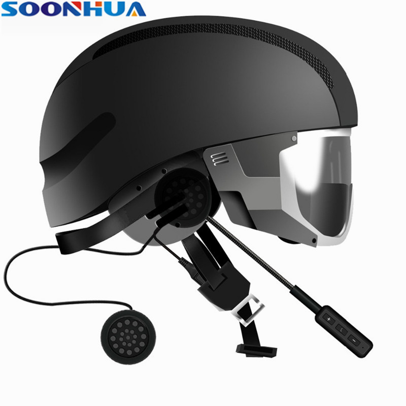 High Quality SOONHUA Wireless Bluetooth Earphone Handsfree Professional Motorcycle Helmet Headset Intercom Headphone With HD Mic 500m motorcycle helmet bluetooth headset wireless intercom