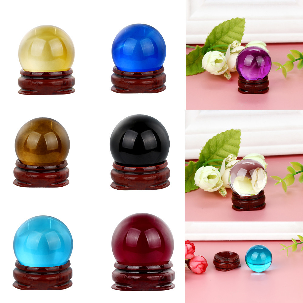 Lowest Price Best Price HOT!30mm Natural Quartz Magic Crystal Ball Healing Ball Sphere And Stand Decoracion Hogar