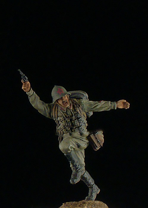 Scale Models 1 35 Soviet officer 1939 1941 soldier  figure Historical WWII Resin Model Free
