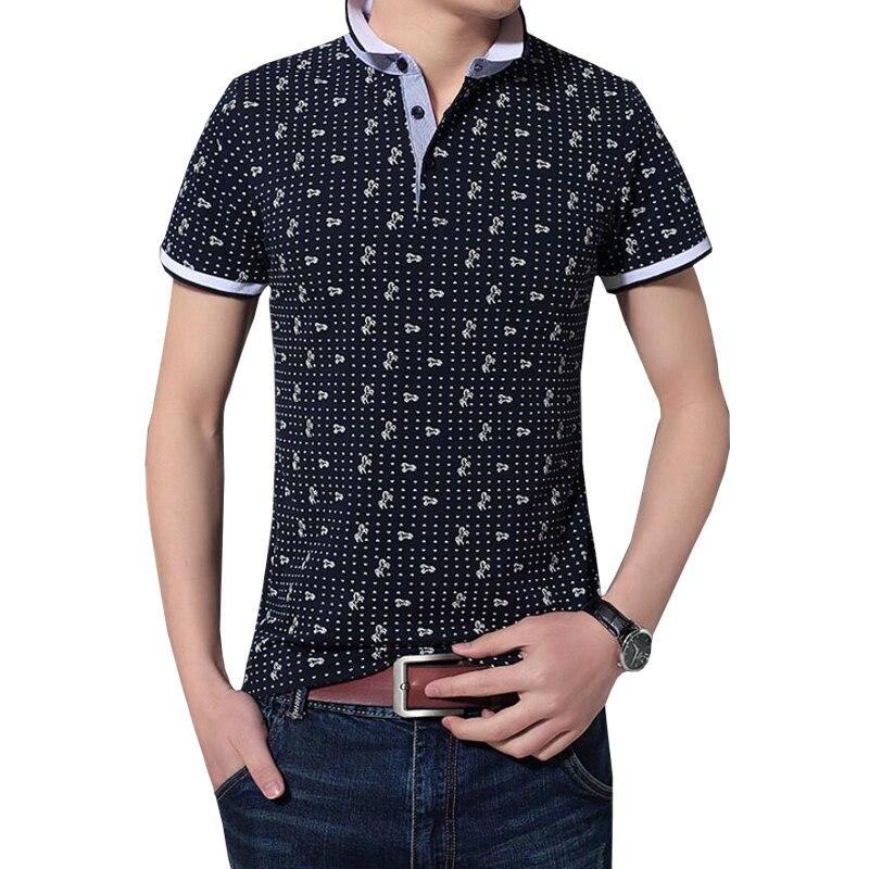 Polo   Shirt Men 2018 Summer Brand New Male Casual Cotton Short Sleeve Smalle Horse Print   Polos   Shirts Camisa   Polo   Masculina Tees