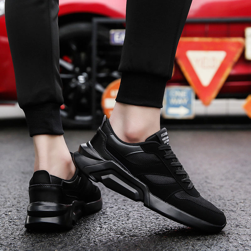 Marque blanc Noir Sport Légères Pour on gris Respirant Chaussures Zapatillas Adultes Hot Mode 2018 Noir Slip Casual Hommes De Hombre RHXqgw5a