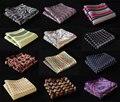 Мк проверка пейсли цветочные шелковый атлас карманный площадь ханки нью-сплетенные жаккардом классические свадебные ну вечеринку платок