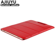 AJIUYU Genuine Leather For Apple iPad Air 2 Case Cowhide Smart Cover Protective Protector Sleeve 6 Air2 Tablet 9.7 inch Cases