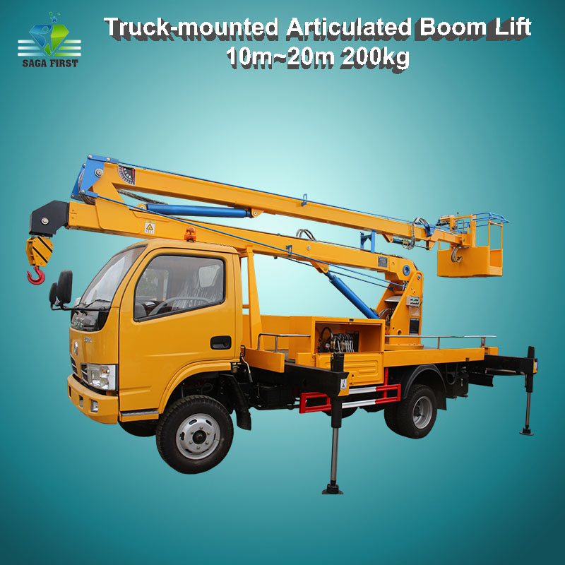 12m 4x2 Aerial Construction Work Lift Truck Mounted Boom Lift