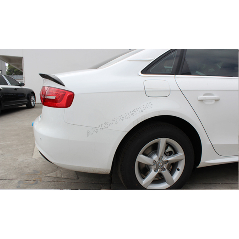 A4 B9 3pcs/set PU ABT style rear trunk spoiler wing boot lip for Audi A4 B9 2013 a4 b7 rear roof lip spoiler wing for audi a4 b7 2005 2008 carbon fiber abt style