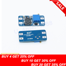 Wholesale 1pcs DC DC step up converter boost 2A power supply module IN 2V- 24V to OUT 5V-28V adjustable regulator board Dropship converter dc 12v 9v 27v step up to 28v 8a 224w dc dc waterproof boost power module power supply adapter voltage regulator