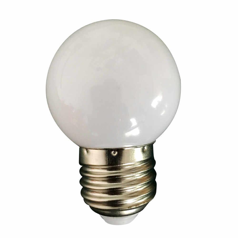 Date coloré E27 110 V 220 V rouge bleu vert blanc jaune rvb blubs économie d'énergie LED boule de Golf ampoule Globe lampe #15