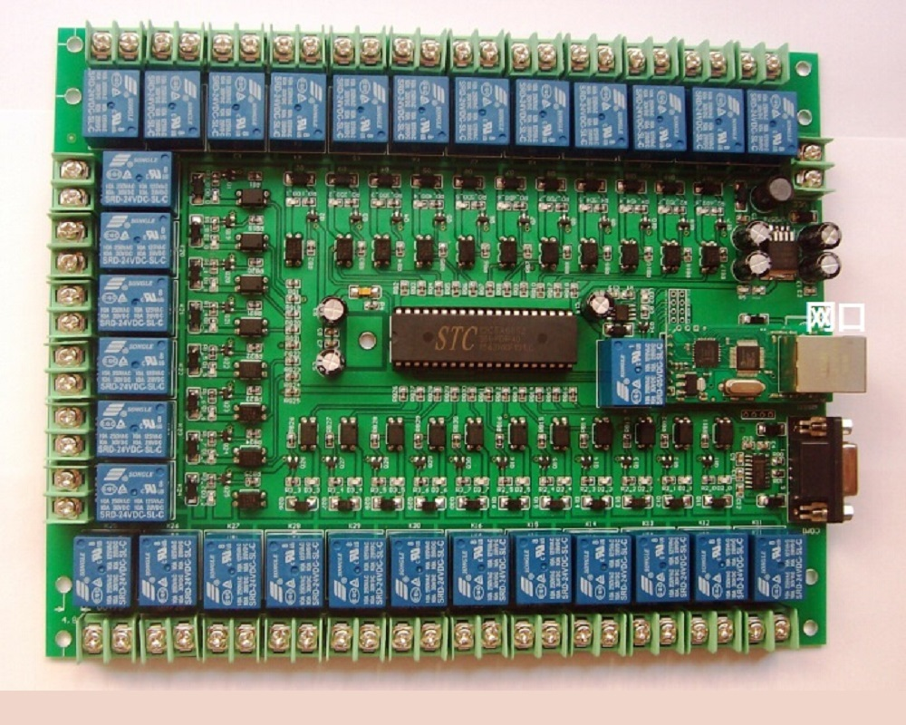 30 Channel Relay, Programmable Control Panel, Industrial Control Panel, Smart Home Network, Serial Port Control.
