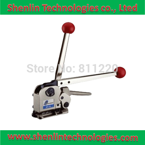 Steel strapping tools equipment manual metal belt clamp jonit crimper machine wooden baler strapper packaging bander banding too