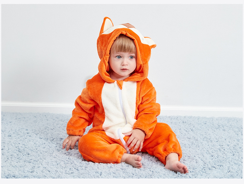 HTB1 qBoR4TpK1RjSZR0q6zEwXXaN Baby rompers new born baby girls clothes Hooded pajamas mameluco bebe warm winter animal costumes roupas de bebe dropshipping