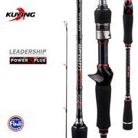 KUYING Leadership Spinning Casting Lure Fishing Rod 1.92m 2.16m 2.19m 2.28m 2.4m 2.58m 2.7m Pole Stick Carbon Cane Medium Fast