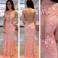 YNQNFS IED29 Vestido Fiesta Sexy See through Open Bust Backless Red Carpet Dresses Evening Party Gown Mother 2020