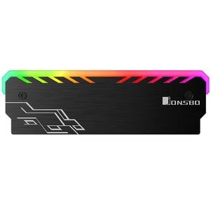 Image 3 - 2 sztuk/partia dla RAM pulpit pamięci radiator Cooler Shell RGB 256 kolor automatyczna zmiana aluminium radiator RAM kamizelka chłodzenia