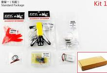 JMT Q100 Indoor Mini FPV Racing Drone KIT With Frame Brushed Motor ESC Battery Props Flight Control Yellow