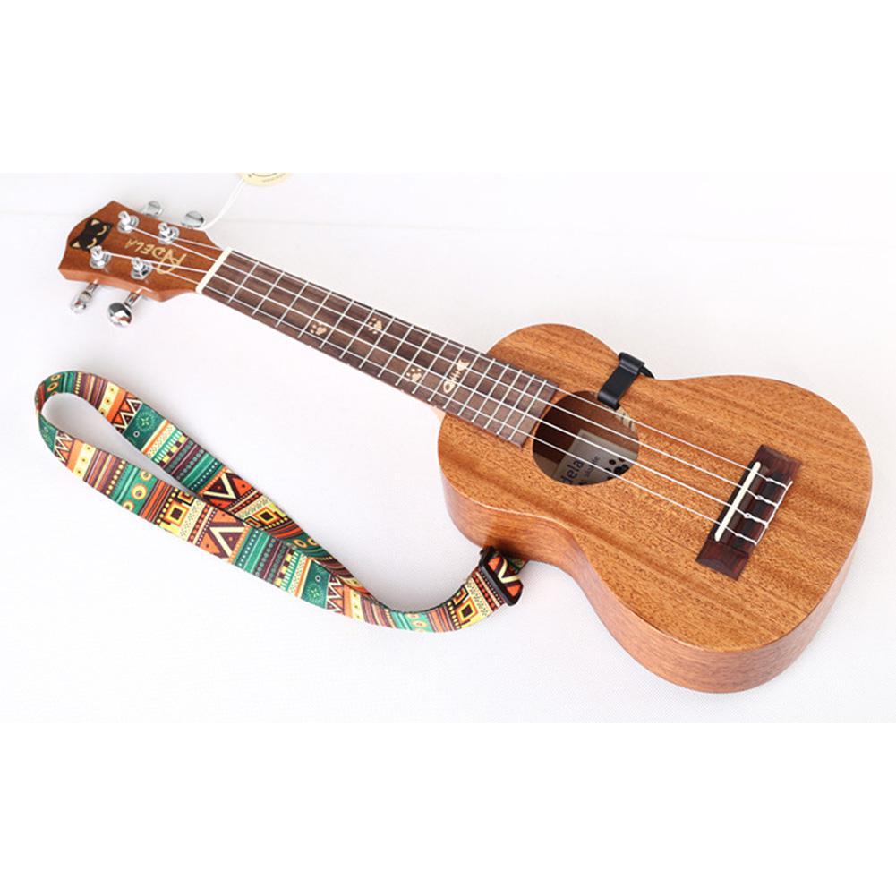 Etnische stijl ukelele riem duurzaam verstelbare print lint clip-on - Muziekinstrumenten - Foto 5