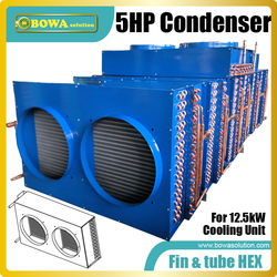 5HP fin & tube heat exchanger is good choice for air cooled oil cooler, seafood machines or water temperature machines