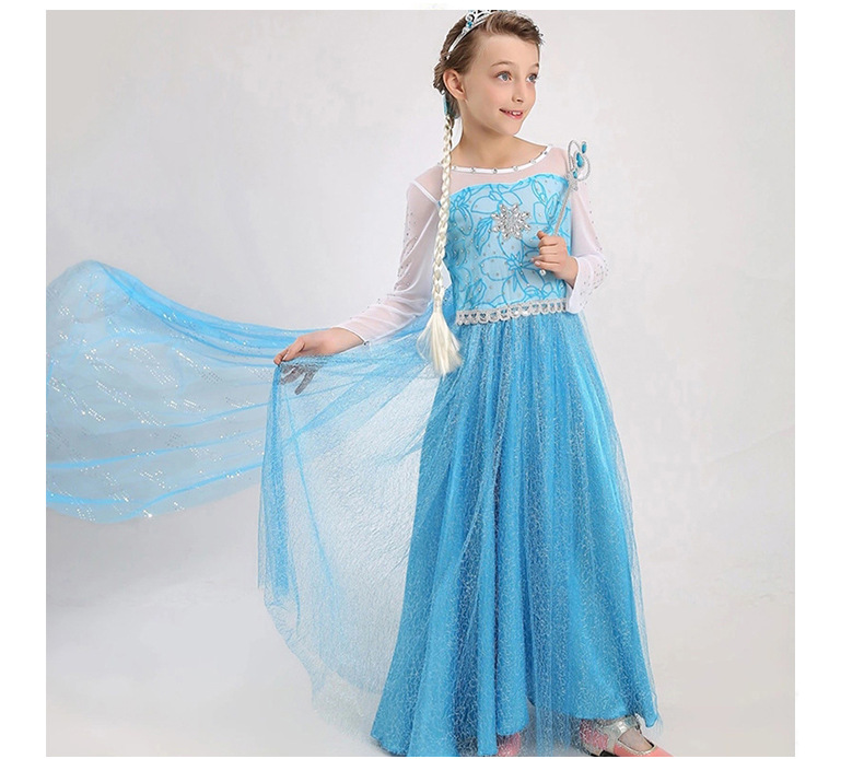 HTB1 qCGnrYI8KJjy0Faq6zAiVXaH Queen Elsa Dresses Elsa Elza Costumes Princess Anna Dress for Girls Party Vestidos Fantasia Kids Girls Clothing Elsa Set