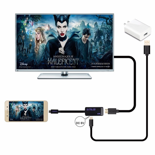 HD MHL 3.0 to HDMI 4K*2K TV Adapter Cable For Samsung Galaxy S3 S4 S5 Note 3 2 For Sony Z3 Z4 For HTC M7 M9