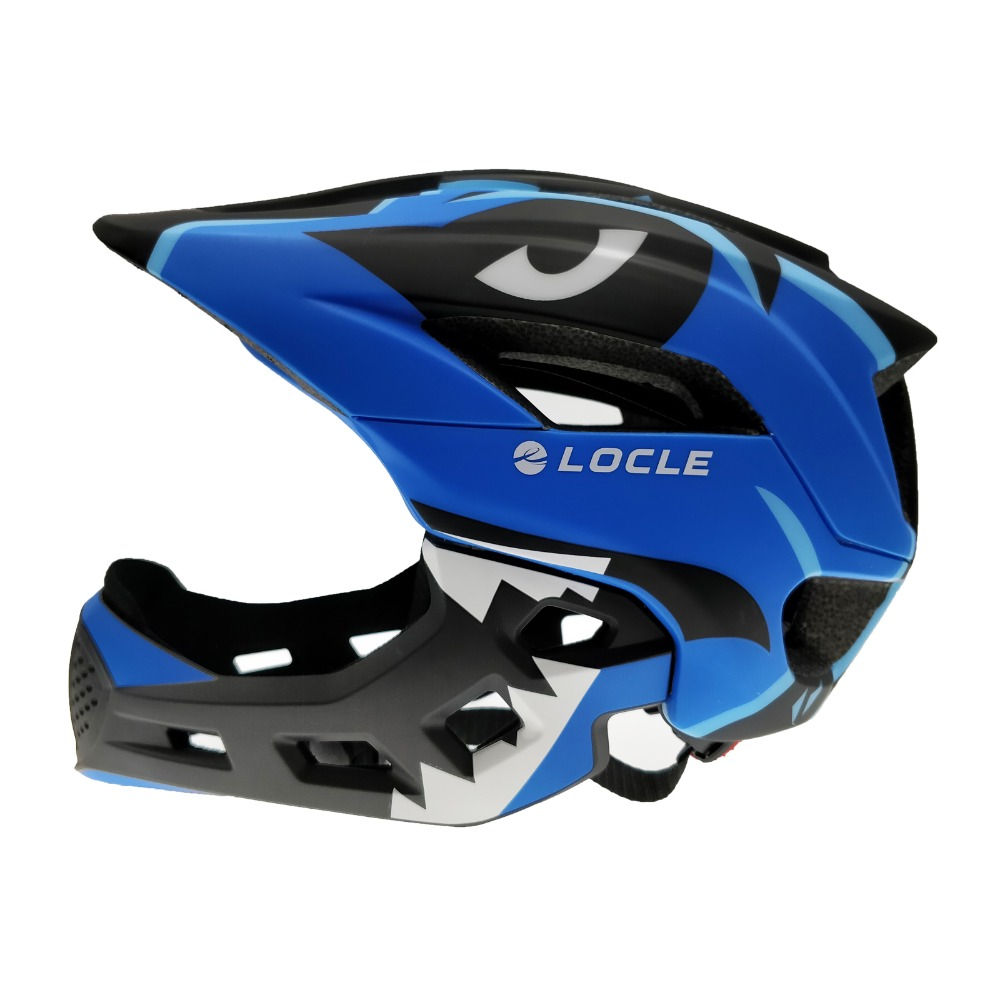LOCLE Children Bicycle Helmet Ultralight Kids Cycling Helmet MTB Road Mountain Child Mouth Guard Bike Helmet 52-56cmLOCLE Children Bicycle Helmet Ultralight Kids Cycling Helmet MTB Road Mountain Child Mouth Guard Bike Helmet 52-56cm
