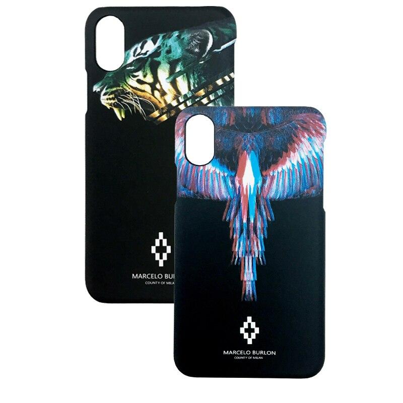 Marcelo Burlon Cover for iPhone X Marcelo Case Wild Animal iPhone x Plastic Hard Case Coque iPhone x Tiger Marcelo Cases