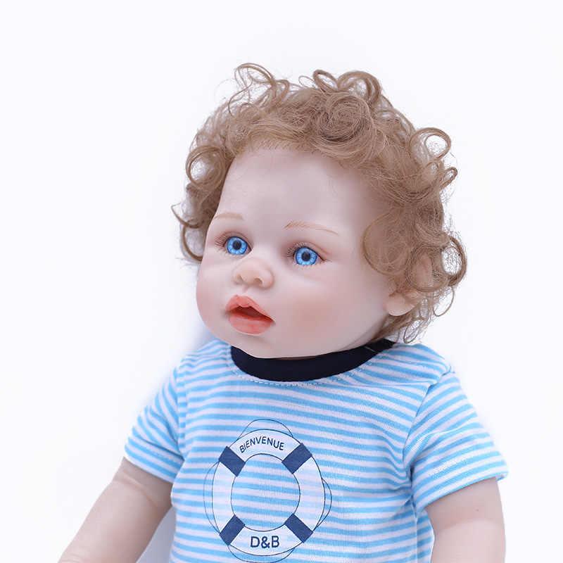 Bebe Reborn Baby Doll ледяной куклы реалистичные полный тело силикона винил возрождается мальчик кукла живые игрушки для детей Juguetes Brinquedos