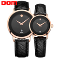 DOM lovers couple watches luxury brand waterproof style quartz leather watch gold watch MS-375+GS-1075