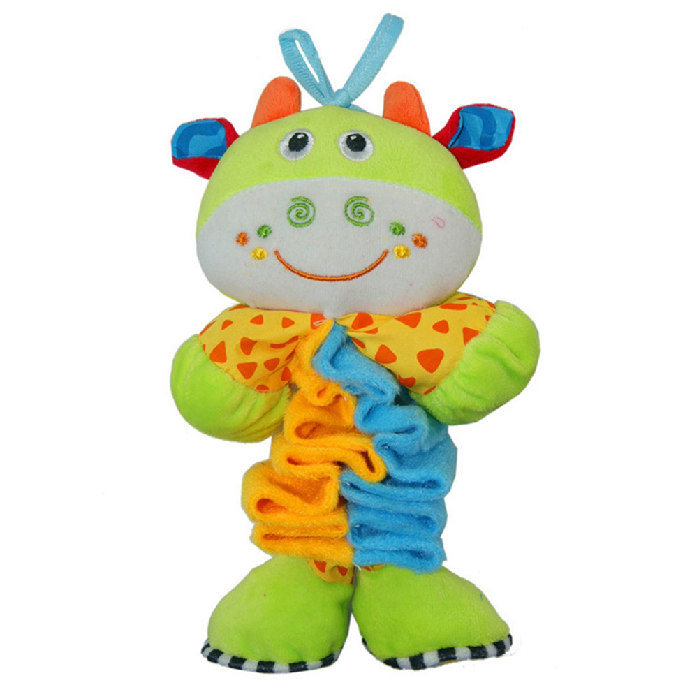 37CM Baby Boys and Girls Musical Plush Rattle Toy Kids Cartoon Animal Elastic Music Cute Dolls Toys Baby Rattle Toy Gift