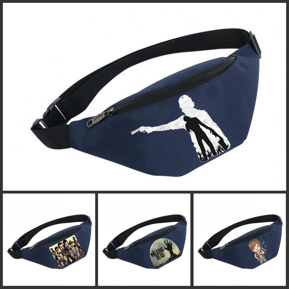 Waist Bag Women Belt Waterproof Chest Handbag Unisex Fanny Pack Ladies Waist Pack Belly Bags For The Walking Dead
