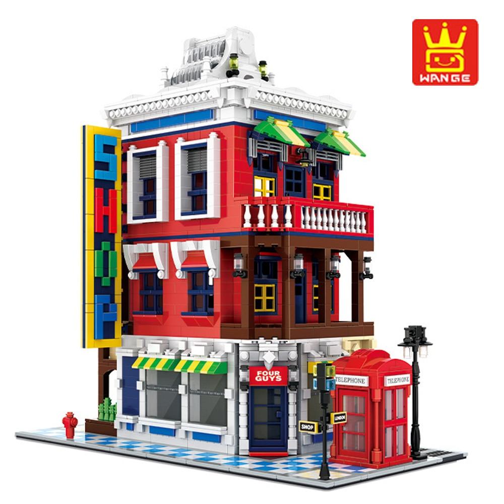 WanGe Construction blocs de Construction Architecture coin magasin blocs de ville bricolage assembler des briques jouets pour enfants cadeaux