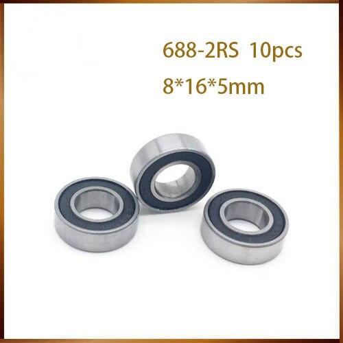 10 шт. 688-2RS 8*16*5 мм ABEC-1 688 rs 688rs резиновая уплотнительная бухта тонкая стена Глубокие шаровые подшипники паза 688RS