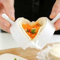 3 uds herramienta para hacer dumplings masa de moho prensa carne pastel Empanada moldes Clips herramientas de cocina DIY Jiaozi
