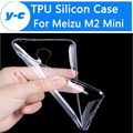 Para meizu m2 mini caso de la cubierta tpu de silicona 100% nuevo 0.25mm cubierta de la caja protectora suave de la contraportada para meizu m2 mini 5.0 pulgadas móvil teléfono
