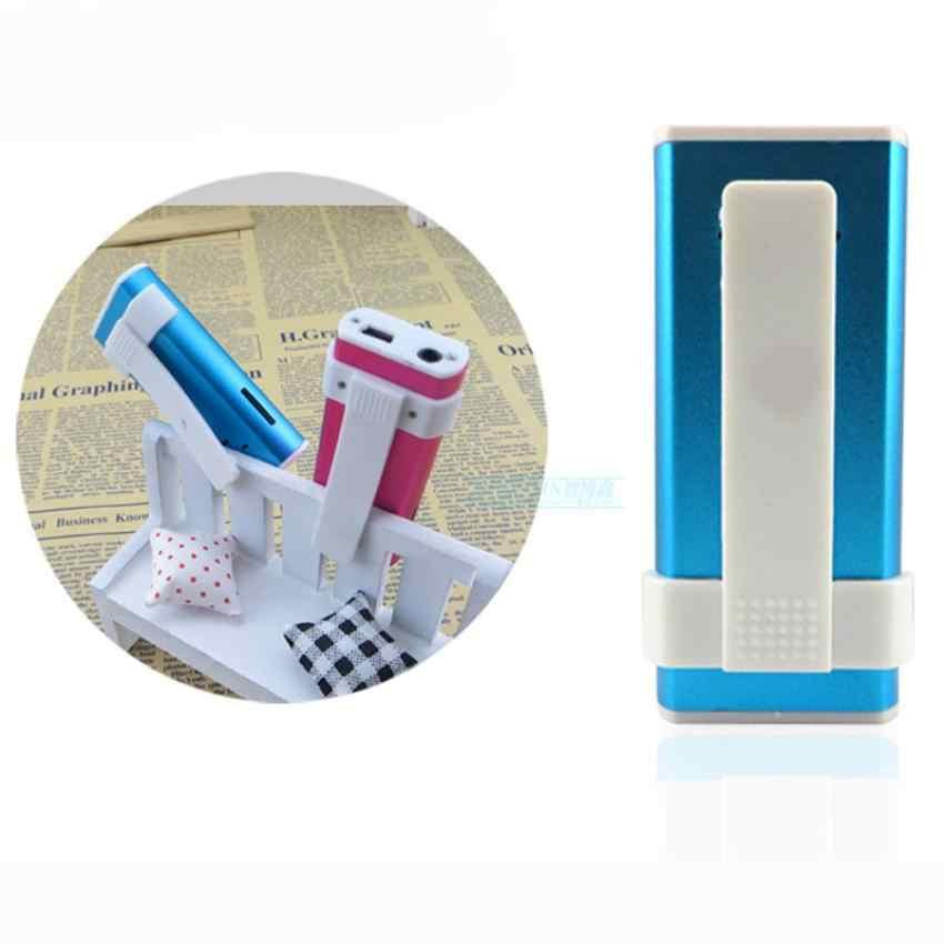 Brillante Mini USB Clip pantalla LCD MP3 Media Player soporte Micro SD de 16GB 10 de enero.