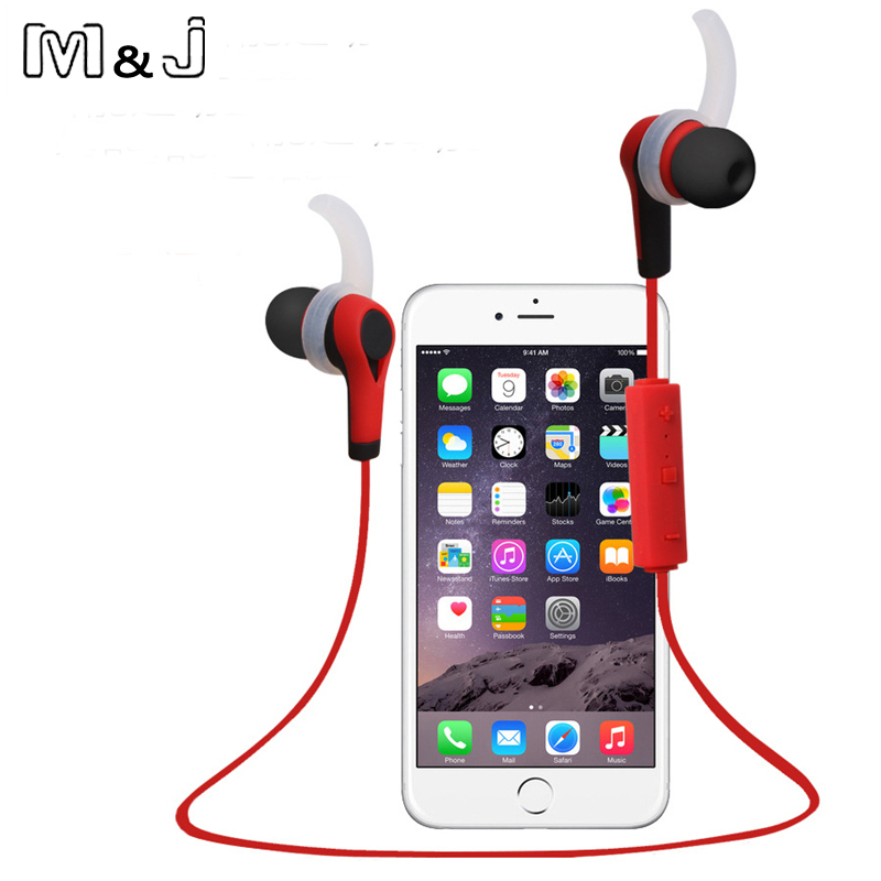 M&J New Wireless Earphone Auriculares Bluetooth Stero Headset In ear Earpiece Sport Running Earphone for IPhone Samsung wireless bluetooth earphone headphones s9 sport earpiece headset with tf card slot 8g auriculares with micro for iphone android